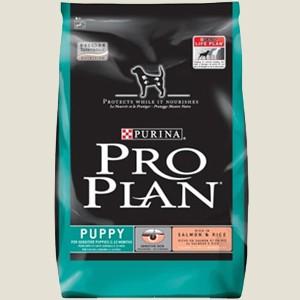 Granule pro štěňata malých plemen - Purina Proplan Dog Puppy Sensitive (Losos&Rýže) 800 g