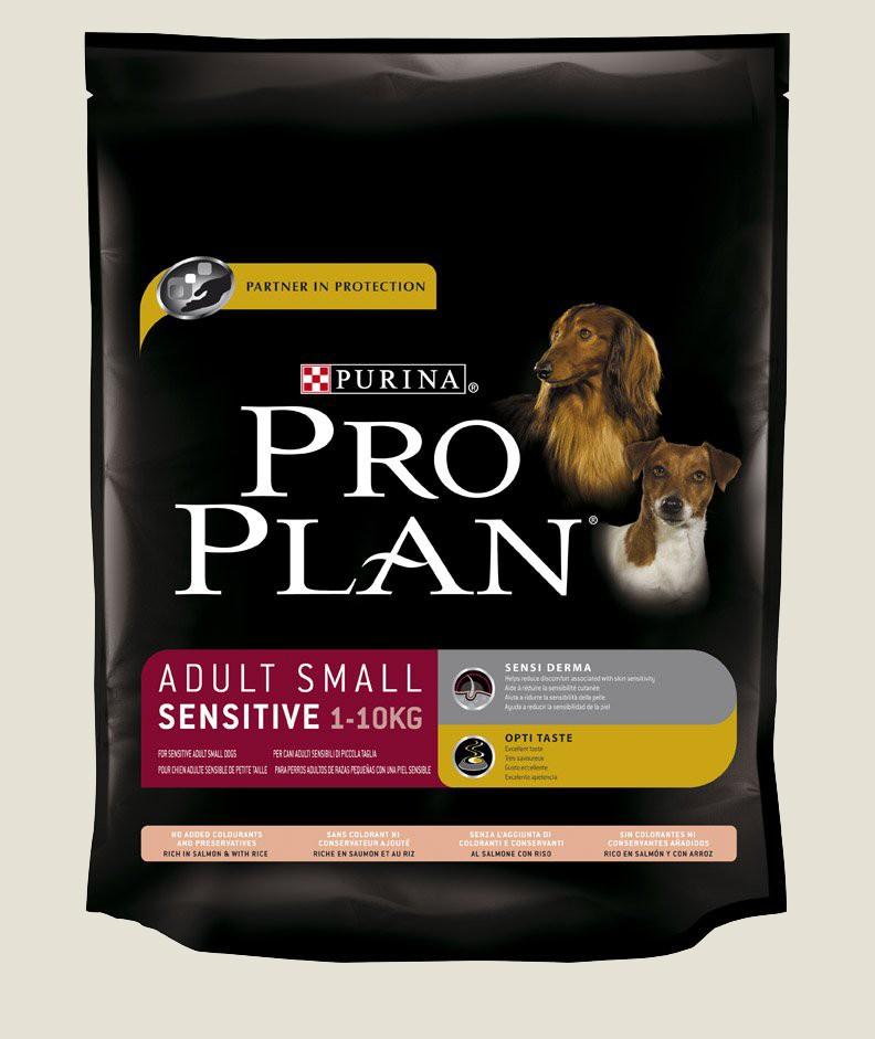 Granule pro psy malých plemen - Purina Proplan Dog Adult Small Sensitive Losos&Rýže 800g