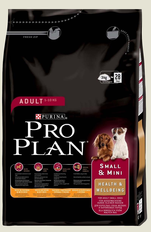 Granule pro psy malých plemen - Purina ProPlan Dog Adult Small & Mini Health & Wellbeing kuřecí s rýží 3 kg