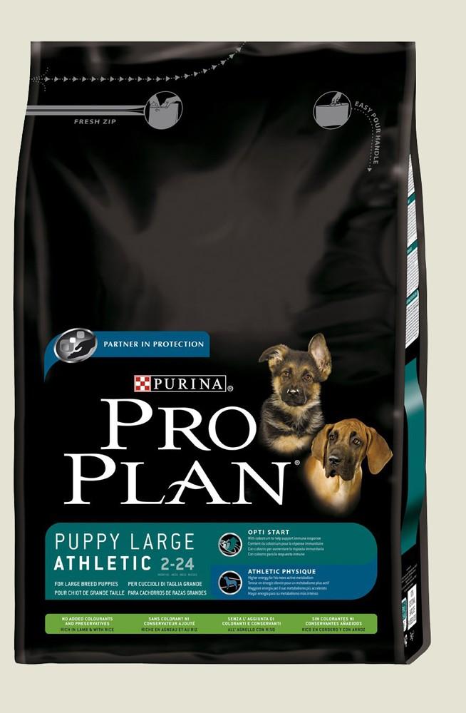 Granule pro štěňata velkých plemen - Purina Proplan Dog Puppy Large Athletic (Jehněčí&Rýže) 3kg