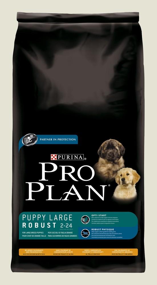 Granule pro štěňata velkých plemen - Purina Proplan Dog Puppy Large Robust (Chick&Rice)14kg