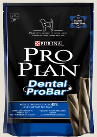 Pochoutka pro psy Purina Proplan Dental ProBar Chick&Rice pes 150g