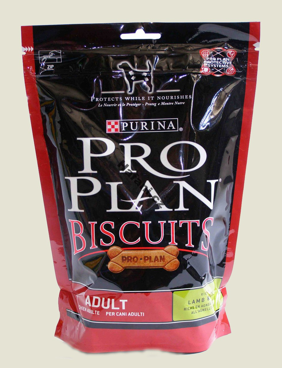 Pochoutka pro psy - Purina Biscuits Lamb&Rice pes 400g
